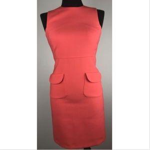 Tory Burch Sheath Dress  Pink Wool Career Pockets